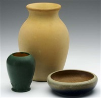 bowl (+ 2 others; 3 works) by grand feu art pottery