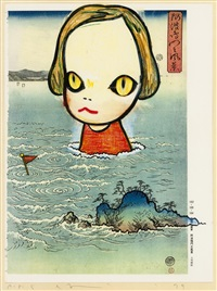 ocean child (from in the floationg world) by yoshitomo nara