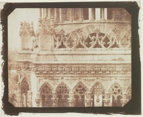 one of the towers of orleans cathedral as seen from the opposite tower by william henry fox talbot
