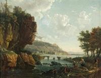 paysage aux pêcheurs by p. le corre