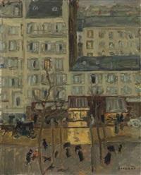 paysage parisien (boulevard de clichy) by pierre bonnard