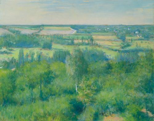 la vallée de lyerres by gustave caillebotte
