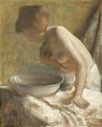 femme à l'éponge (sketch) by armand rassenfosse
