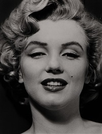 marilyn's face from the halsman/marilyn portfolio by philippe halsman