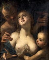 bacchus, vénus et cupidon by hans von aachen