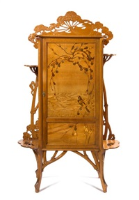 marquetry cabinet by émile gallé