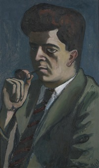 portrait of dr. j. gordin kaplan by alice neel