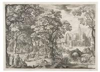 la festa nella foresta by nicolaes de bruyn