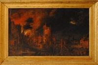 incendie de la ville de troye by daniel van heil