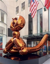 balloon monkey (orange) by jeff koons