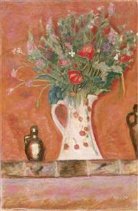 bouquet de cheminee (also known as fleurs sur une cheminee) by pierre bonnard