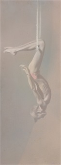 figure on a swing #1 by robert r. bliss