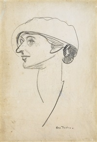 portrait study of florence hubbard by george wesley bellows