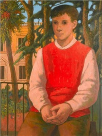 portrait of a young man by justin maurice o'brien