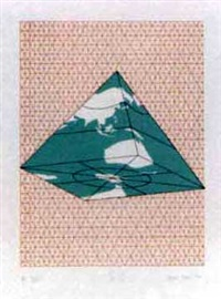 study of distortions - isometric systems in isotropic space 1973-4 (album of 9 w/justif.) by agnes denes