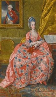 portrait of the archduchess maria amalia of austria, duchess of parma by johann joseph zoffany