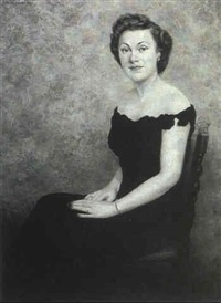 portrait of mrs. george w.c. mccarter by michel jacobs