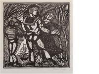 la danse (from quatre bois) by raoul dufy