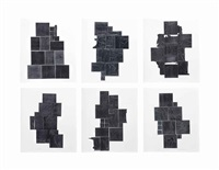 lead intaglio (6 works) by louise nevelson