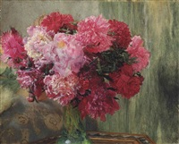 japanese peonies by sir lawrence alma-tadema