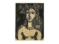 jeune fille inspiree par cranach by pablo picasso
