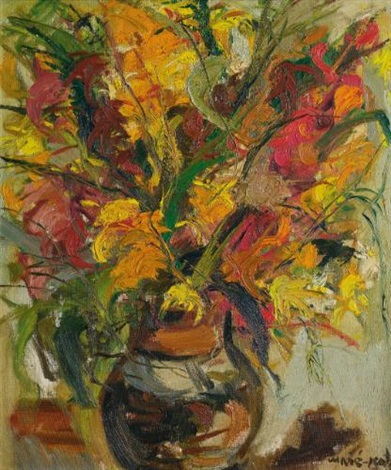 vase of flowers by mané katz