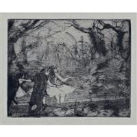 sur la scene (2e planche) by edgar degas