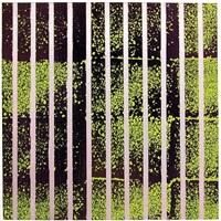 untitled (london rain)ball pen ink on canvas 30 x 30 cm gespendet vom künstler by herbert hinteregger