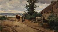 paysanne et sa vache by léon barillot