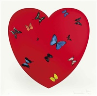 all you need is love, love, love by damien hirst