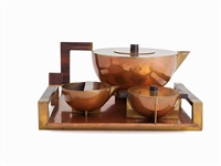4-piece tea set (set of 4) by marianne brandt