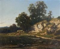 paysage champêtre by jean-alexis achard