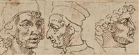 trois portraits d'artistes de la renaissance italienne (after les vies by giorgio vasari) (3 works) by nicolas poussin