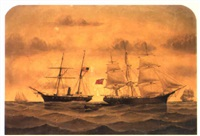 the capture of the 'emily st. pierre' off charleston, march 1862 by william gay yorke