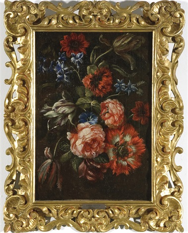 natura morta con fiori by simon pietersz verelst