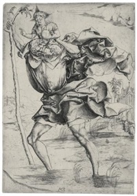 saint christopher by matthaus zasinger
