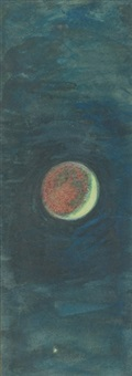 the cresent moon (preparatory study for the ship) by william holman hunt