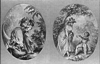 scène galante by antoine louis françois sergent-marceau