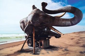 sleeping elephant in the axis of yogyakarta parang kusumo beach by wimbo ambala bayang