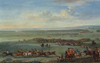 a race meeting at newmarket by john wootton