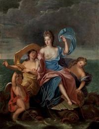 triomphe d'amphitrite, portrait présumé de françoise-marie de bourbon, mademoiselle de blois, duchesse d'orléans (1677-1749) by pierre gobert