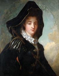 la marquise de moulins-rochefort, dit aussi portrait de femme en costume vénitien by jean-baptiste santerre