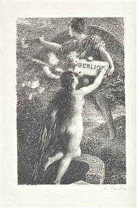 hector berlioz sa vie et ses oeuvre (album of 14 w/title, justif. & text by adolphe jullien) by henri fantin-latour