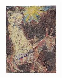bédouin sur l'âne (bedouin on a donkey) by jean dubuffet