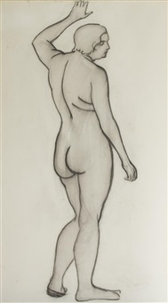 untitled - female nude figure by andré derain