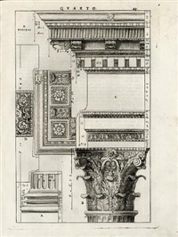 i quattro libri dell'architettura (folio of 44 works) by andrea palladio