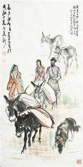 送粮图 by huang zhou