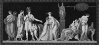 la constance de coriolan (die standhaftigkeit des coriolan) (after jean guillaume moitte) by jean françois janinet