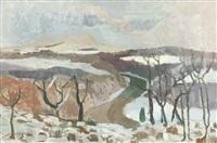 tweed valley in snow by earl george alexander eugene douglas haig