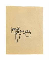 gun dog by jean-michel basquiat